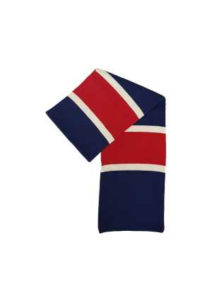 Newlands College Scarf Royal/Red/White
