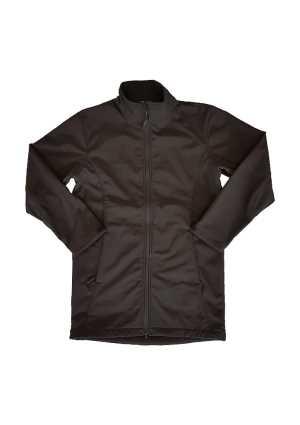 Newlands College Long Length Soft Shell Jacket Black