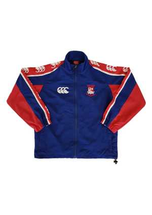 Newlands College Strip Track Jacket Royal/Scarlet/White