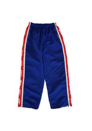 Newlands College Strip Track Pant Royal/Scarlet/White